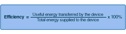 energy transfers efficiency formula